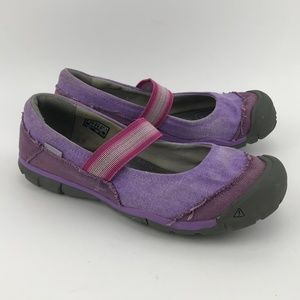 Keen Womens Purple Canvas Mary Jane Flats & Oxford